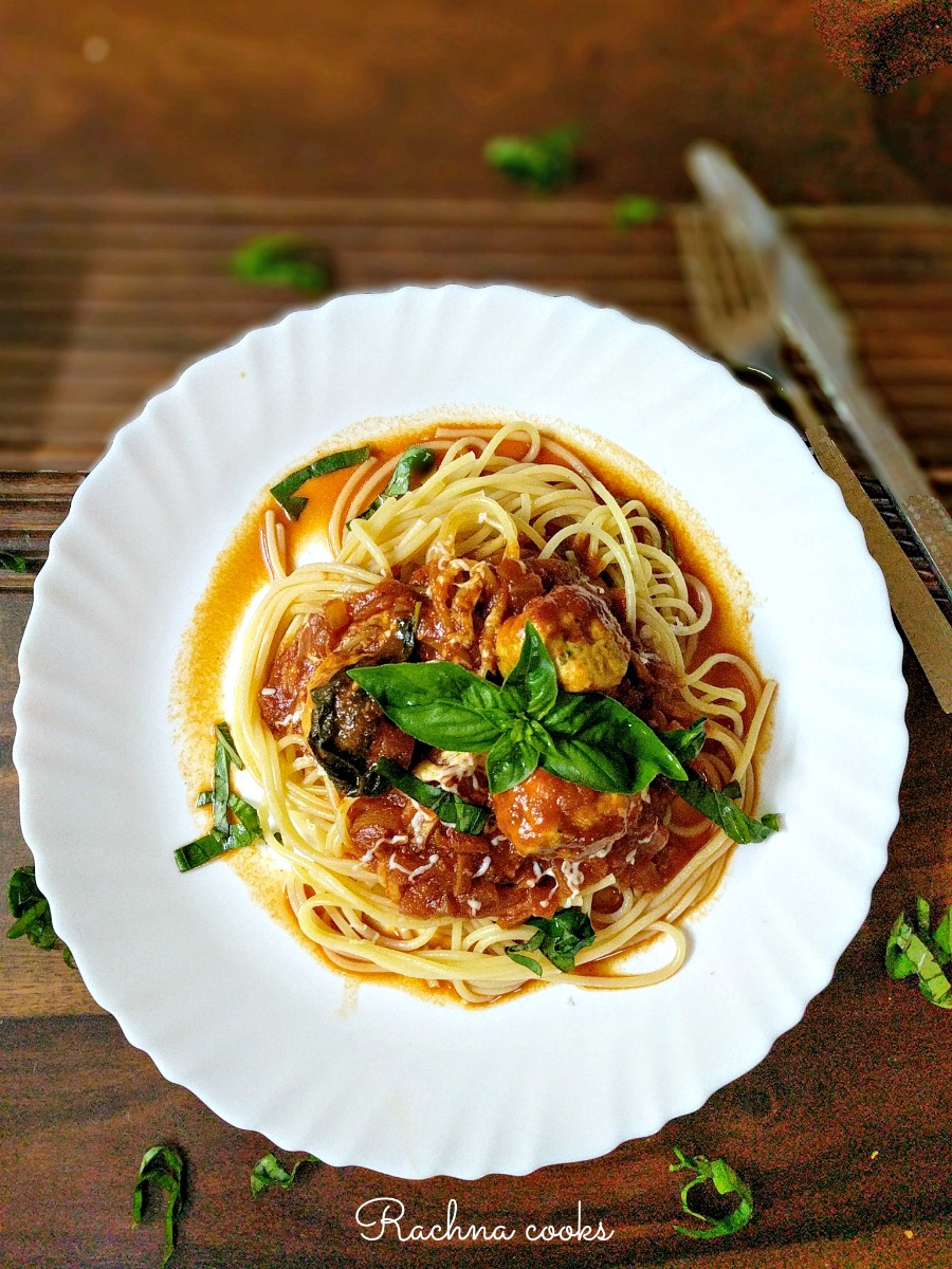 spaghetti with meatballs recipe