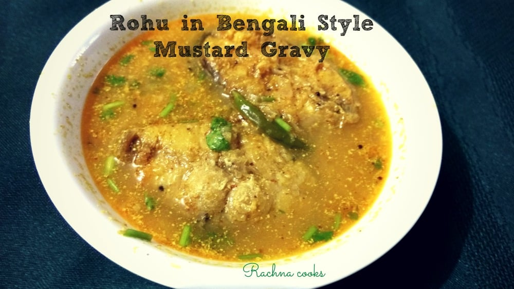rohu in bengali style mustard curry