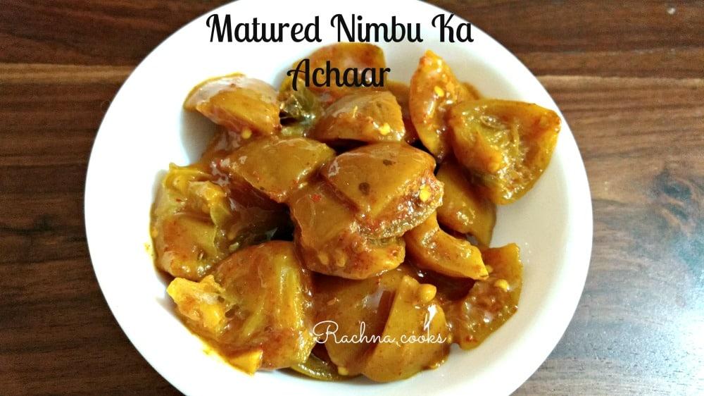 nimbu ka achaar