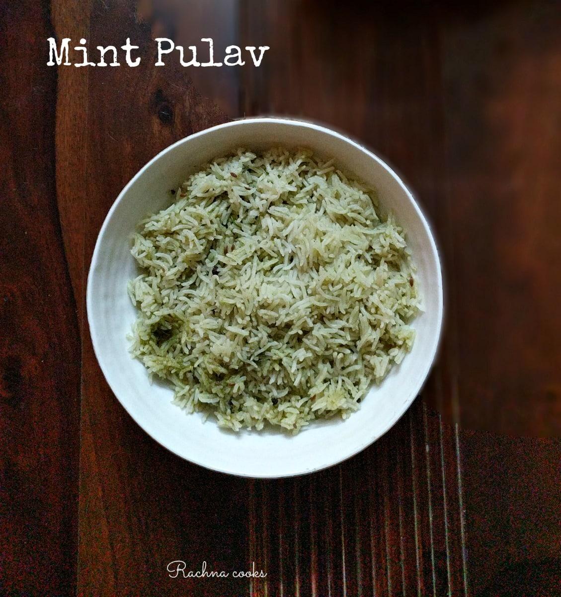 Mint Pulao Mint Rice
