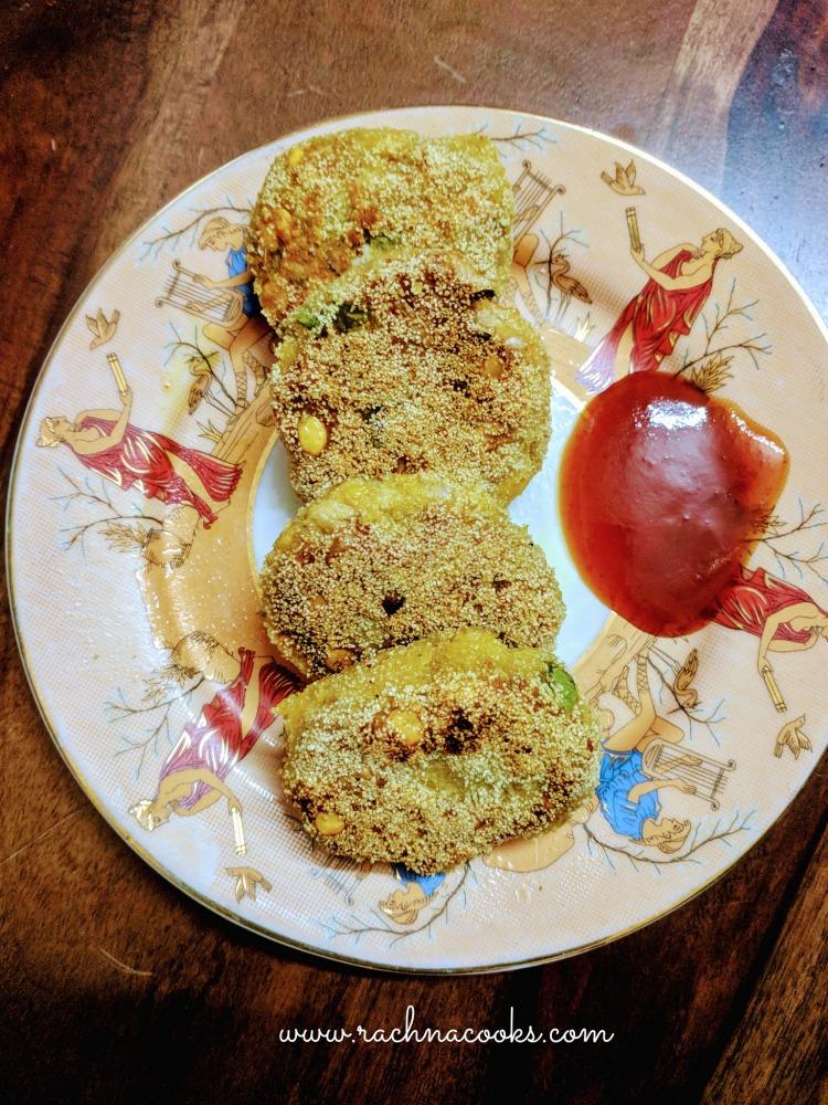 Raw jackfruit kebabs