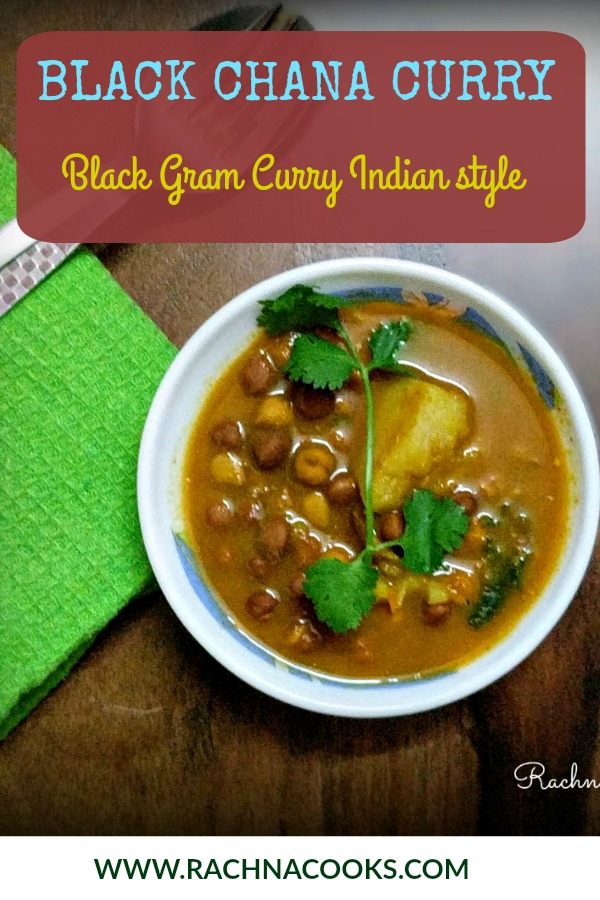black chana curry