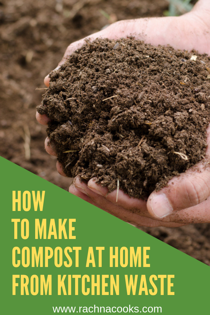 how to make compost at home from kitchen waste