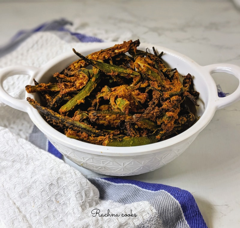 kurkuri bhindi without frying