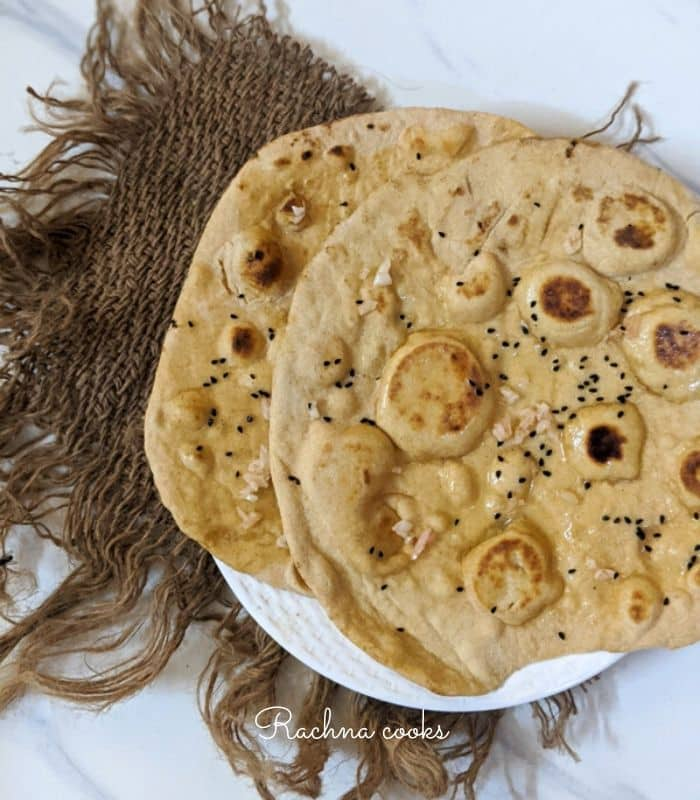whole wheat naan no yeast recipe