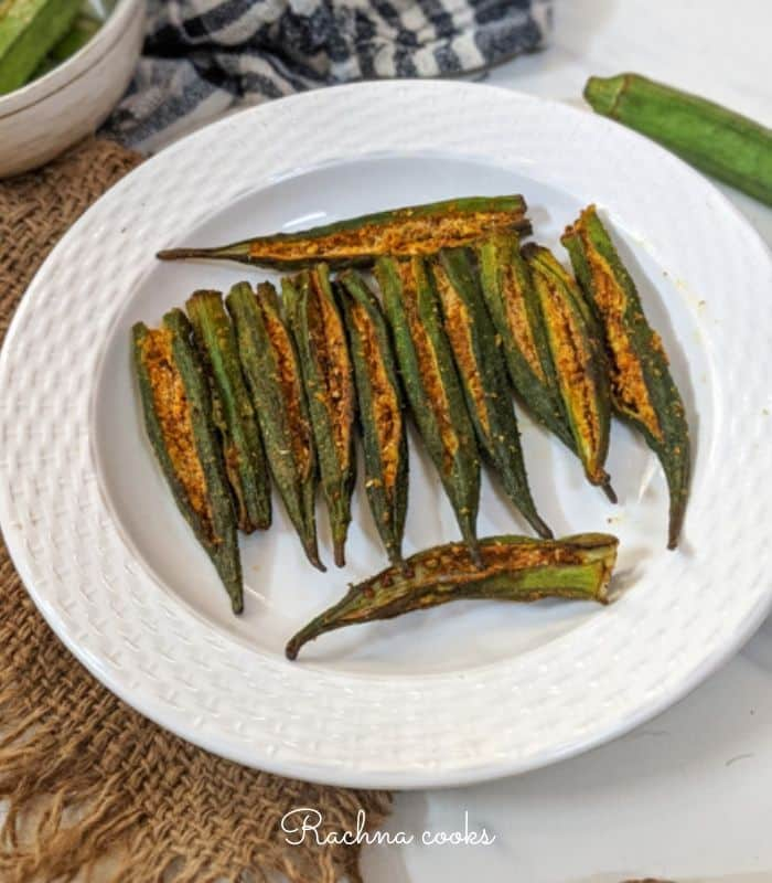 air fryer bharwan bhindi