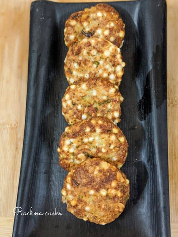 air fryer sabudana vada