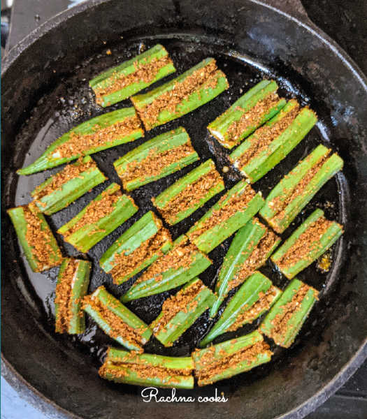 air fryer bharwa bhindi