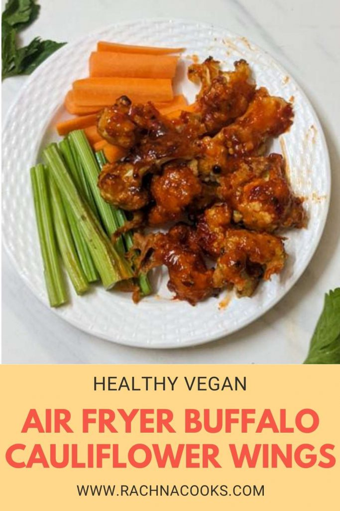 air fryer buffalo cauliflower wings